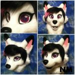 [OK] Pink/white Head by Northshore Mascots