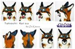 [YES] Takeshi Head by CityMutt Fursuits