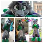 [YES] Sen Wolf Digitigrade Fullsuit by Furtastic Studios