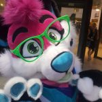 [YES] Pink Dog Partail by Furry Fursuit Maker
