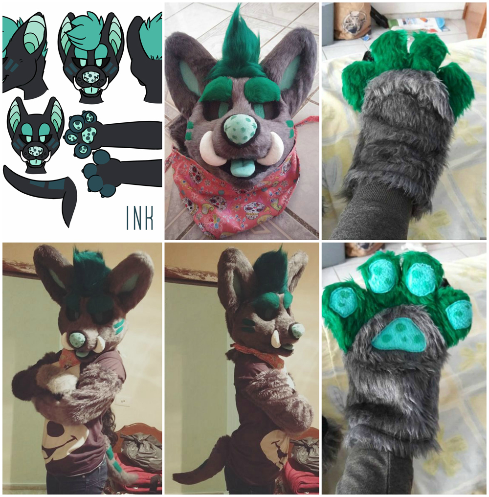 [NO] Ink Partial by Pyrope Costumes