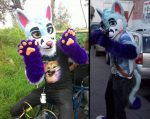 [YES] MetalPuppyWolf Partial by Dorky Dog Suits