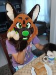 [YES] Flint the Manned Wolf Partial by Koshka Fursuits