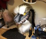 [YES] Grinning Raptor Head by Colorful Creatures
