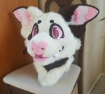 [YES] Noodle Fursuit Head by Deer In A Hat Costumes